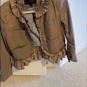 Khaki jacket , J Crew